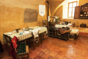 Pralormo castle, the ancient room for the staff ,Piedmont,Italy,