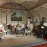 Pralormo castle,the blue room,Piedmont,Italy,Europe